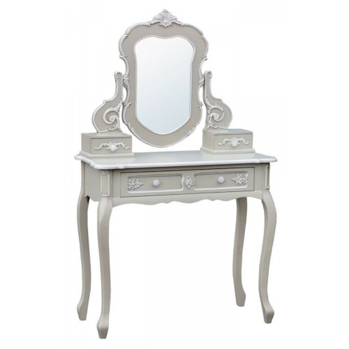 Charmont Gris - Grey Console Table with Mirror